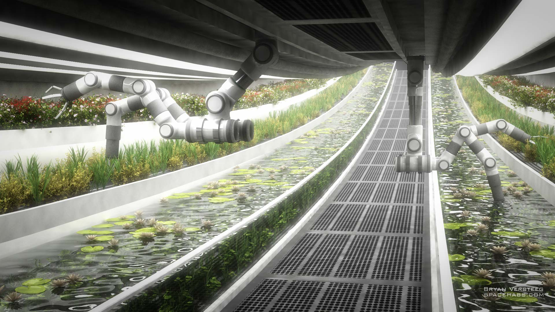 copyright Bryan Versteeg / spacehabs.com, Automated robotic farming.